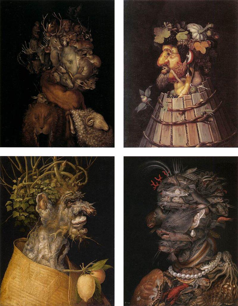 Оригинальные портреты от Джузеппе Арчимбольда