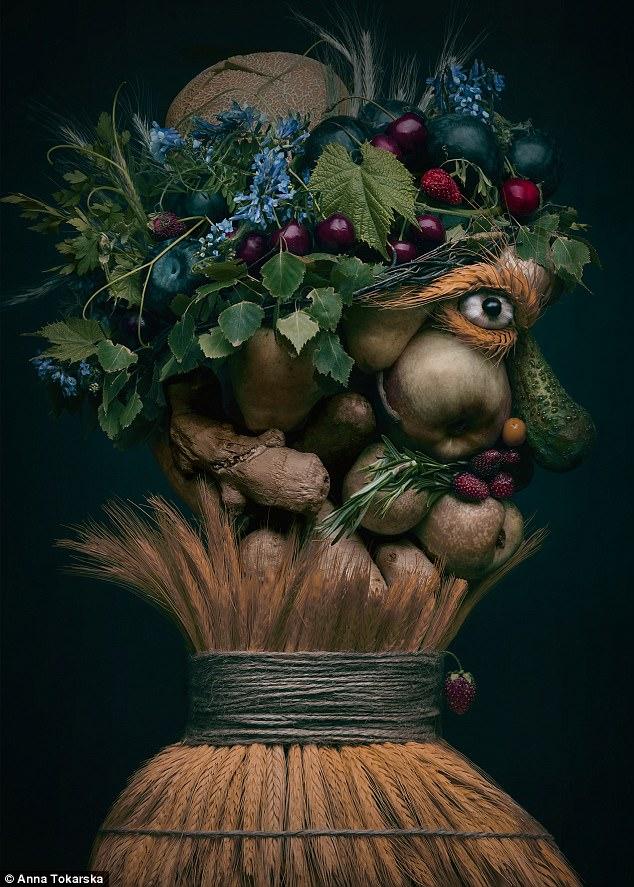 оригинальные шедевры из овощей и фруктов