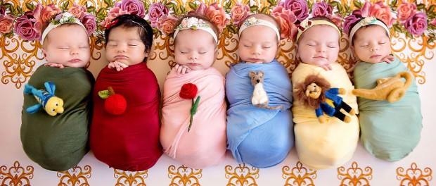 Фотопроект «Мини-Дисней» показал «рождение» принцесс