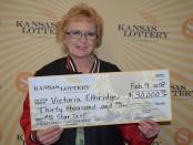 Kansas woman said she won $30,000