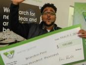 man wins $100,000