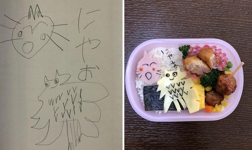 креативные блюда для дочки