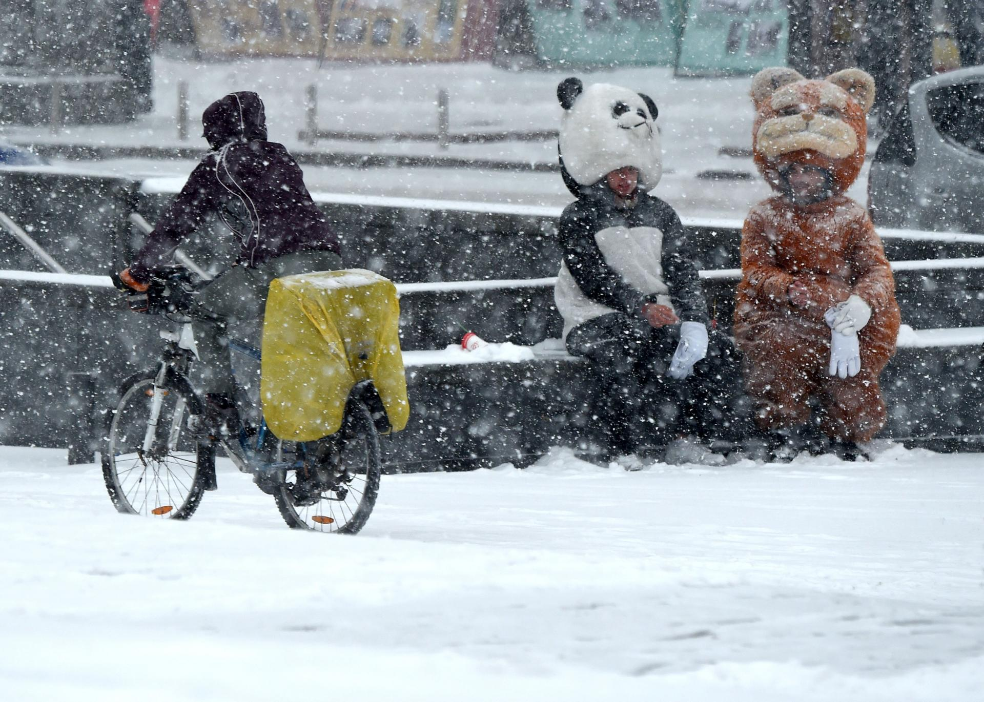 Первый снег в Европе выпал в Киеве