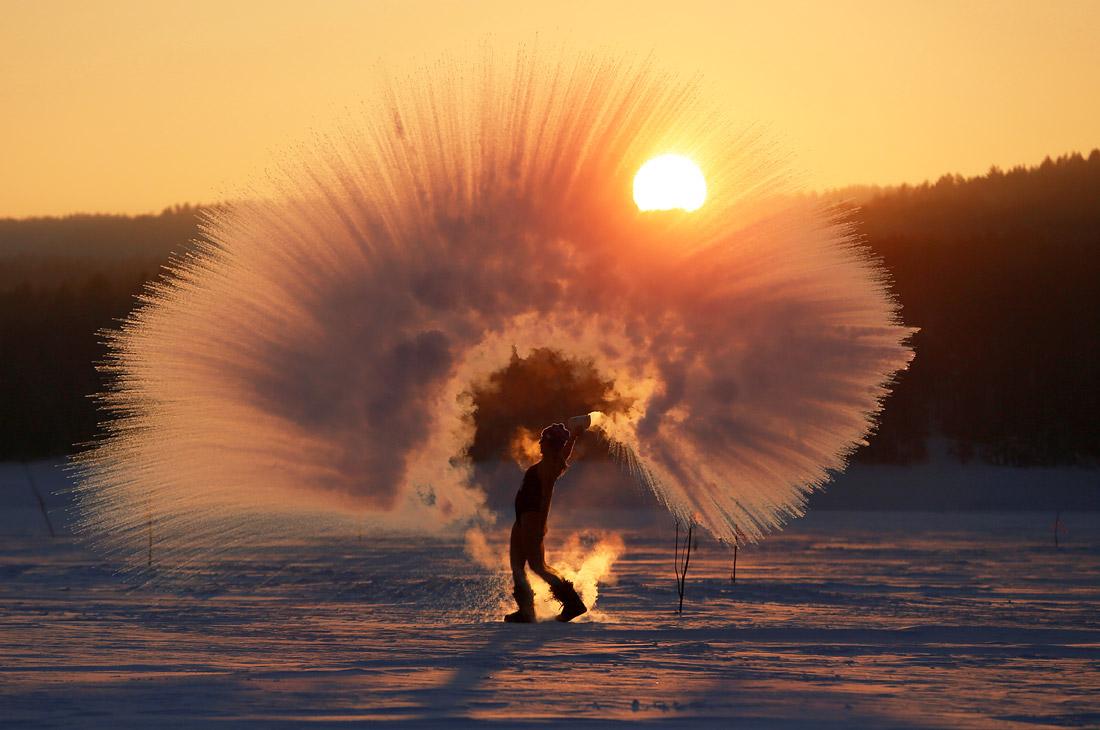 Мороз в Красноярске