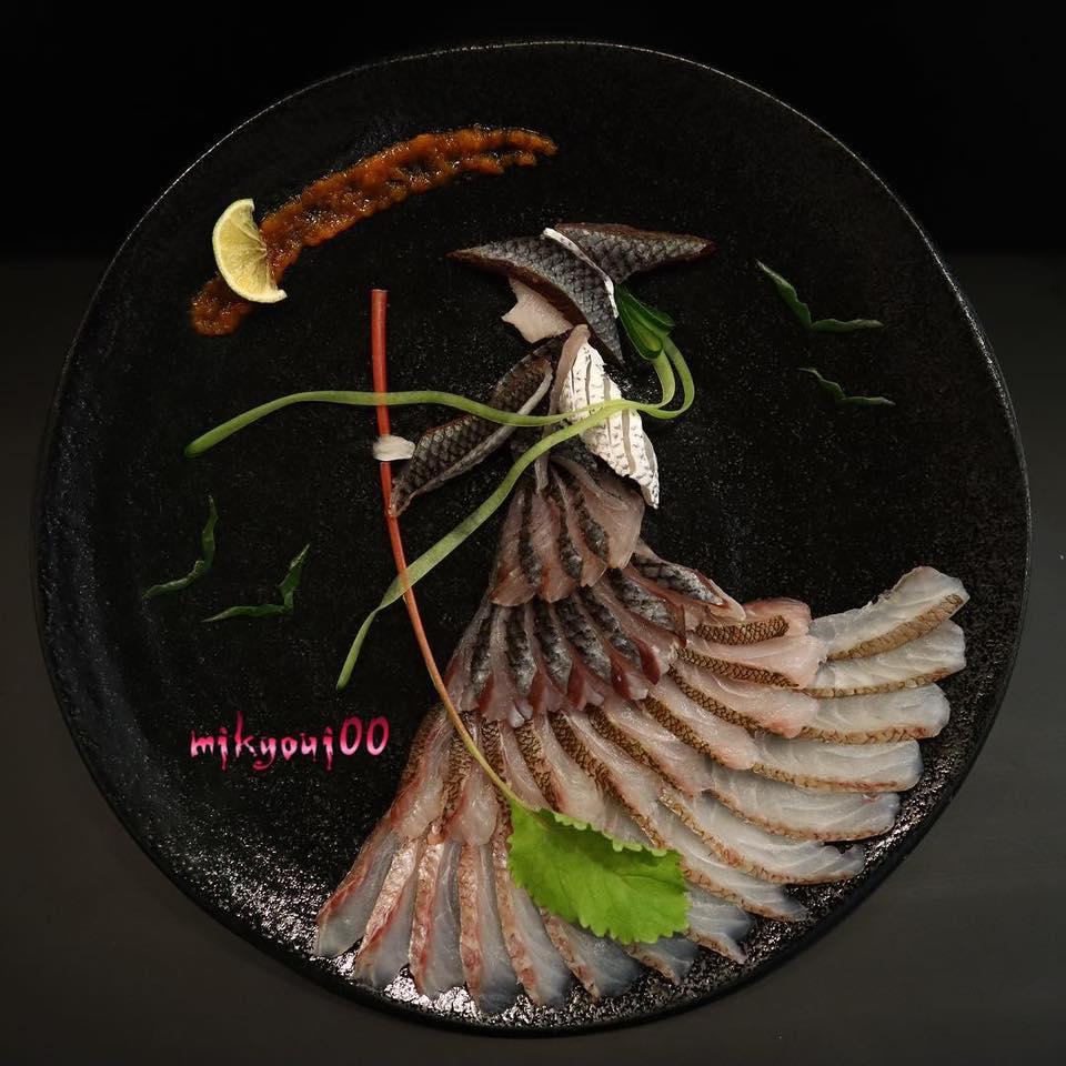 креативные сашими от Mikyoui