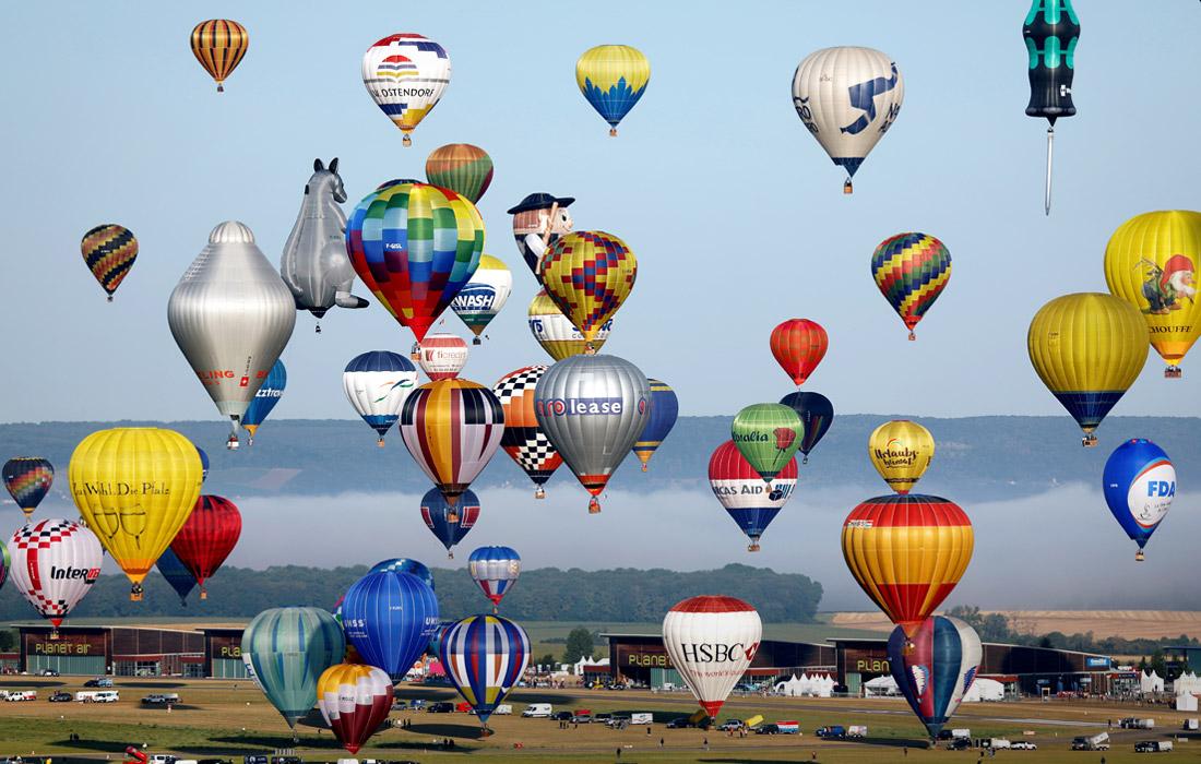 Во Франции проходит всемирный фестиваль воздушных шаров