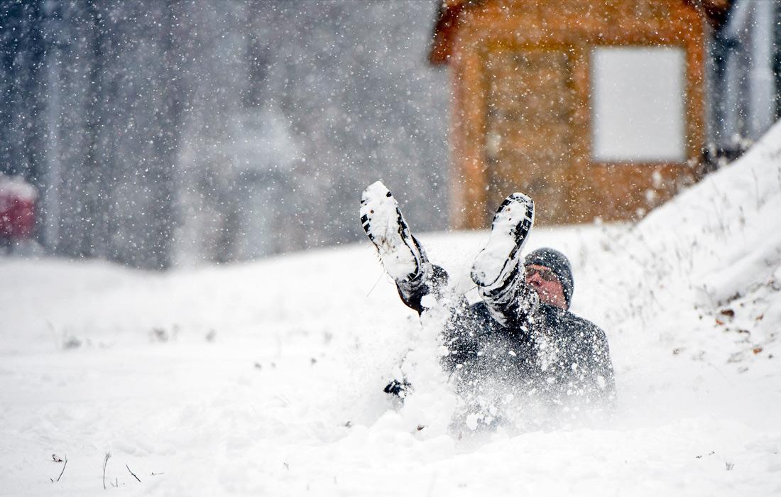 Зима пришла неожиданно в декабре месяце!