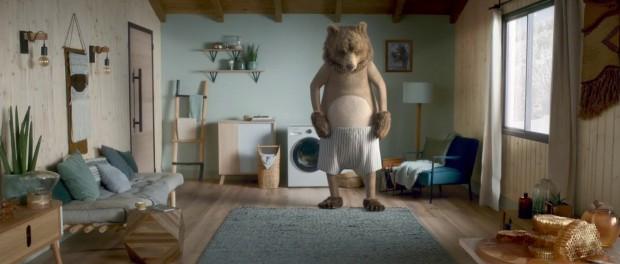 Медведь креативно показал новой стиралки от Samsung