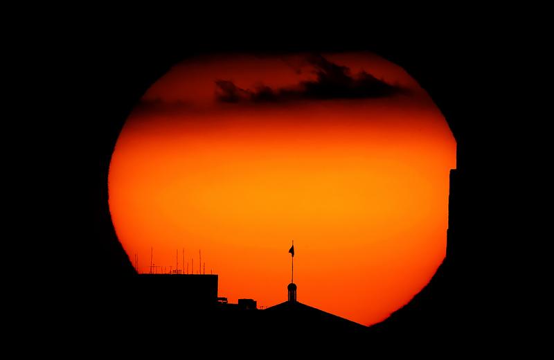 Закат нереальной жары