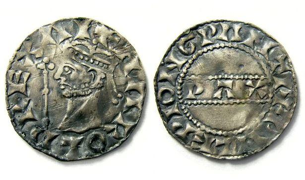 еребряный пенни времен короля Гарольда II Годвинсона