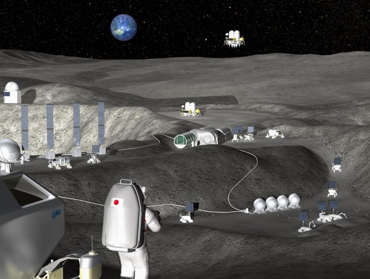 fuel factory on the Moon