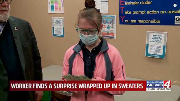 depths of clothes donated to $42,000.
