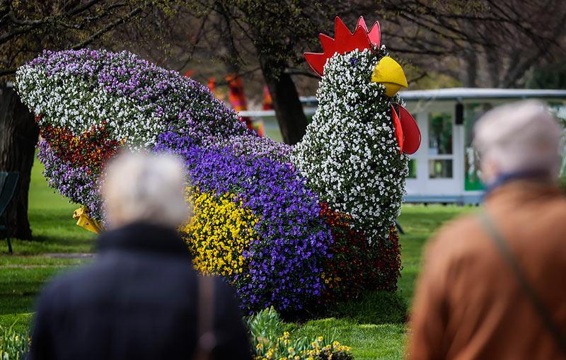 Садовое творчество на выставка BUGA