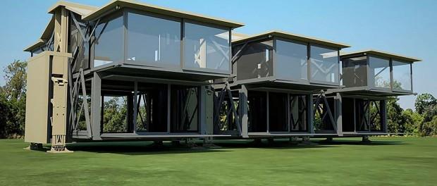 Британцы сконструировали дом, который можно собрать и разобрать за 10 минут