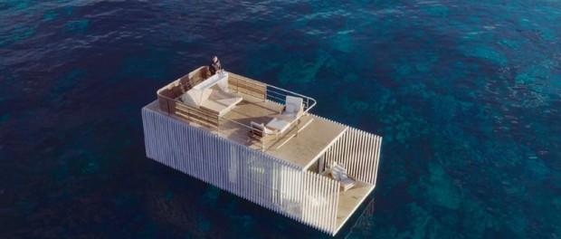 Испанский стартап представил оригинальный отель на воде